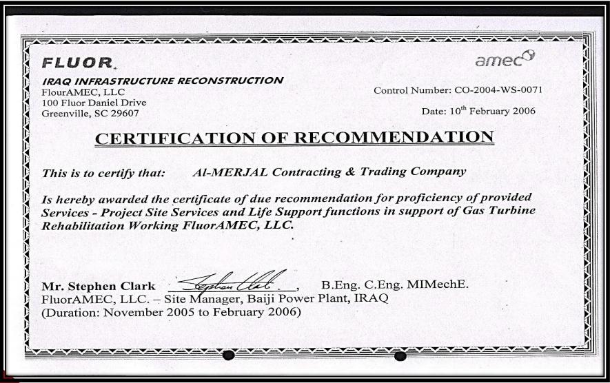 certificate gcc certification ram v3 recommendation 2006